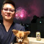 自宅から隅田川花火大会を観賞しました。
